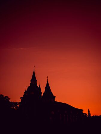 View of the church. Beautiful silhouet background 版權商用圖片