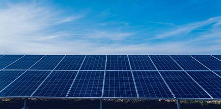 Solar panels, photovoltaic alternative electricity source. Background.