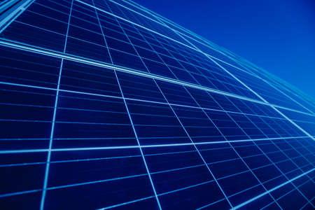 Solar panels, photovoltaic alternative electricity source. Background Archivio Fotografico