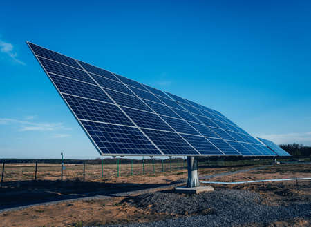 Solar panels, photovoltaic alternative electricity source. Background
