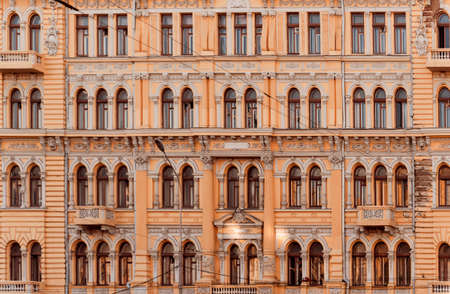 Facade of the historic building. Cental Europe style. Standard-Bild