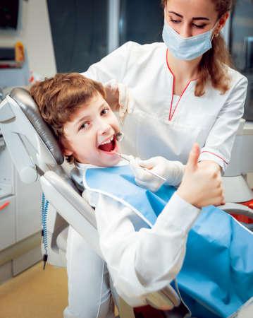 Little boy smiling in the dental office