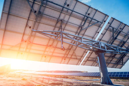 Solar panels, photovoltaic alternative electricity source. Background
