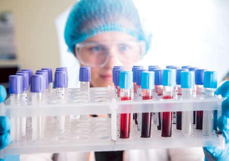Medic staff at work in the laboratory. Background. Zdjęcie Seryjne