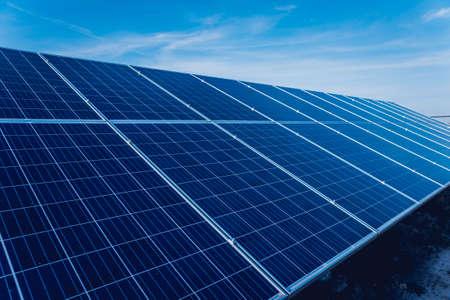 Solar panels, photovoltaic alternative electricity source. Background. Banque d'images