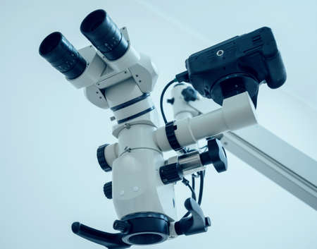 Microscope in the dental office. Modern technology