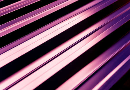 Violet metallic roof tiles background with light pattern.