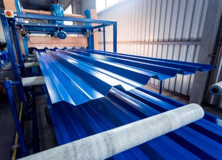 Metal sheet forming machine at the modern metalwork factory. Reklamní fotografie