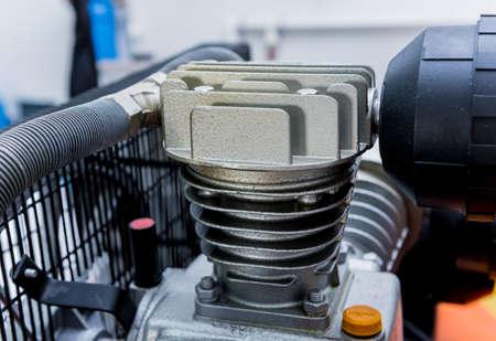 Metal industrial air conditioning vent. HVAC. Ventilation fan background Standard-Bild