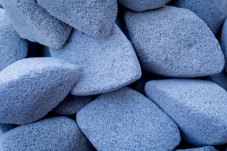 Texture of colored pumice stones for foot care Standard-Bild