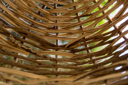 Background and texture of old natural woven straw