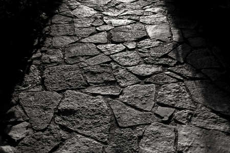 Beautiful overlay texture of old stone road