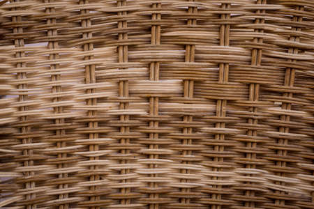 Background and texture of old natural woven straw. Standard-Bild
