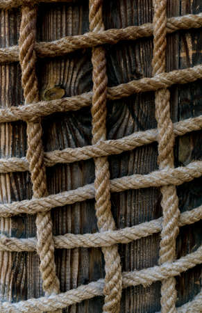 Texture and pattern of old brown rope