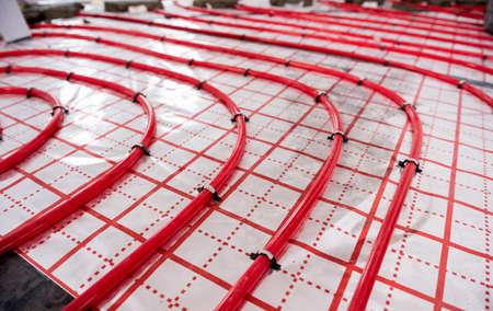 Water heating system and underfloor heating system Standard-Bild