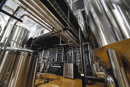 Craft beer brewing equipment in privat brewery