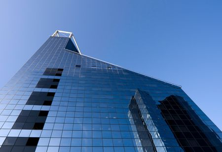 Bank building and blue sky photo