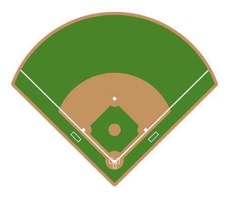 Baseball field icon. Flat illustration of baseball field vector icon for web design.