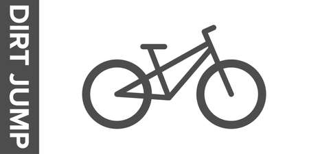 Dirt jumping bike silhouette. flat icon