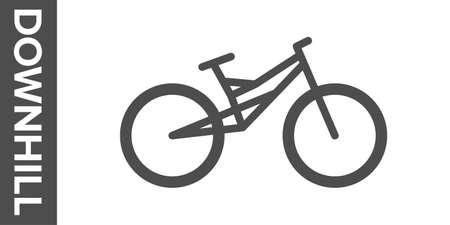 Downhill bike silhouette. flat icon. Banco de Imagens - 153799011