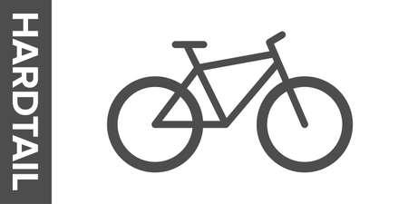 Hard tail bike silhouette. flat icon. Banco de Imagens - 153799020