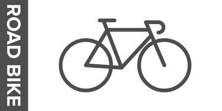 Road bike silhouette. flat icon. Banco de Imagens - 153799051