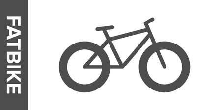 Fat-bike silhouette. flat icon. Banco de Imagens - 153799053