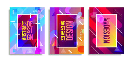 Abstract cover template with watercolor design elements. Poster with geometric shapes and multicolored transparent random overlapping shapes creating watercolor effect. Ilustração Vetorial