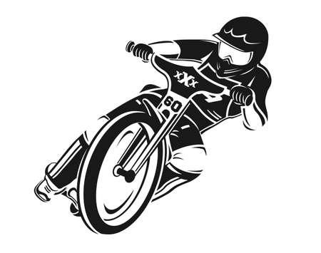 Speedway motorcycle vector illustartion. Bike illustration. Abstract biker. Motocross
