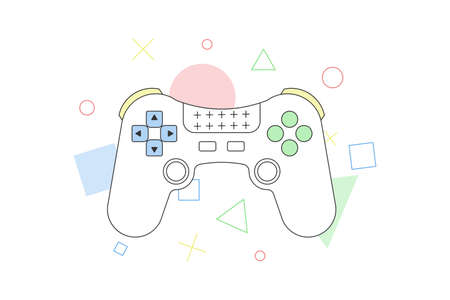 Game controller vector illustration isolated on white background