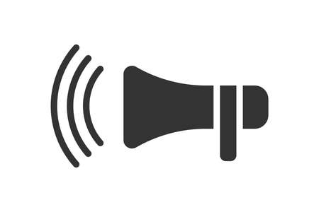 Speaker icon. Loudspeaker vector symbol. Good for web, store and other. Vector illustration isolated on white background