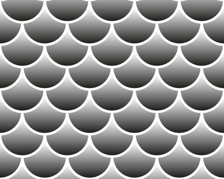 Fish scale seamless pattern. Abstract vector background. Gray gradient color endless background isolated on white