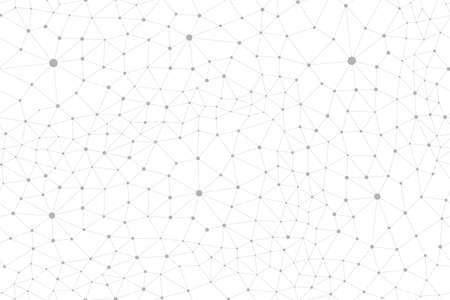 Plexus seamless pattern. Abstract background. Vector illustration isolated on white Illustration