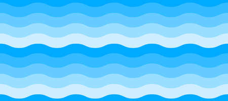 Wave seamless pattern. Abtract sea or ocean background Vector Illustration