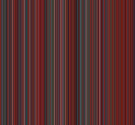 Bold striped background with thin vertical lines of variable widths and colors of varying shades of red, green, blue, purple, and a little white.