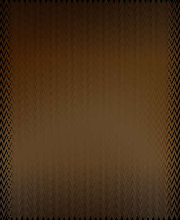 Brown and black computer-generated rectangle with variations in color and intensity. Serrated and zigzag lines and fancy border add interest.