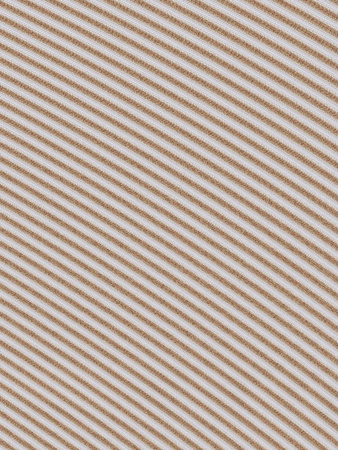 Background of brown and white textured stripes on the diagonal. Design provides depth and dimension.
