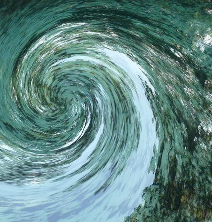 파편을 제안하는 허리케인이나 토네이도 같은 추상 소용돌이에 들어갔습니다. 일부 흐림 효과 속도를 나타냅니다. 천연 온천에서 렌더링.