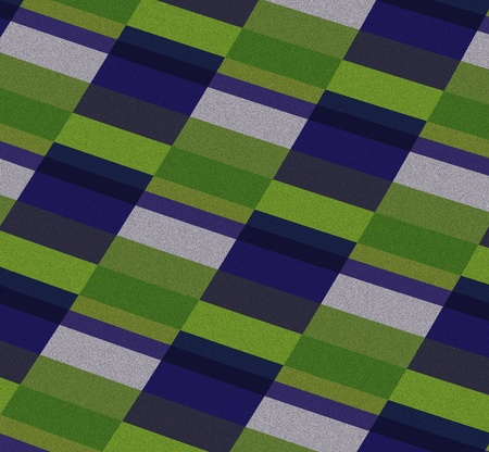 Abstract background in green and purple color block form with a textured finish. Several shades and varied widths provide a 3-D effect.