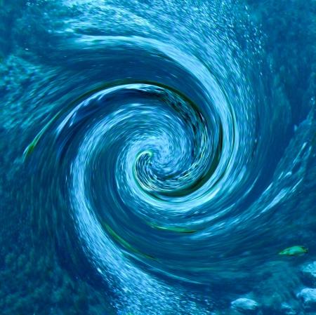 파편이 소용돌이 일부 흐림 효과에 들어갔습니다과 허리케인이나 토네이도 같은 추상 물고기와 천연 온천에서 렌더링 속도를 나타냅니다