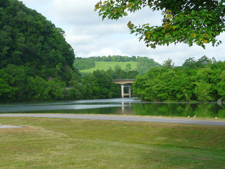 watershed: Roaring River Park near Gainesboro, Tennessee, on Cordell Hull Lake, part of the Cumberland River system. Stock Photo