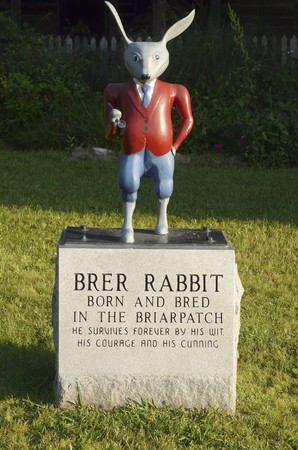 hometown: Brer Rabbit statue at the Uncle Remus Museum in Eatonton, Georgia, the hometown of Joel Chandler Harris, author of the Uncle Remus stories.