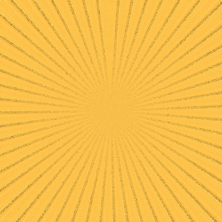 radiate: Sunburst background of yellow, orange, and brown swirls. Diagonal lines radiate out from the center. Stock Photo