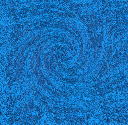 twists: Blue background with random black debris swirling in the shape of a hurricane or tornado. Stock Photo