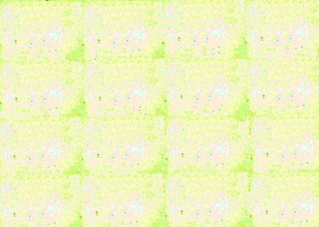splotchy: A grid-like representation with random rust-colored spots on blue, green, pink, white, and yellow forms this grunge background.