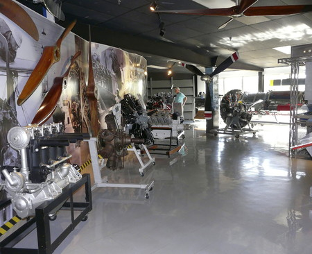 PENSACOLA, FLORIDA - OCTOBER 19, 2016: Various aircraft engines from over the years are on display at the National Naval Aviation Museum in Pensacola, Florida. Editorial