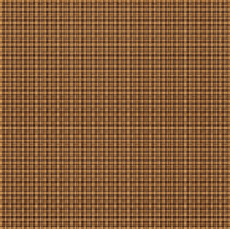 grid background: Repeated braiding of horizontal and vertical stripes creates a 3-D basket weave pattern in brown, woven with double and triple strands.