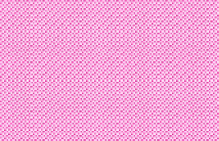 Repeated braiding of horizontal and vertical stripes creates a basket weave pattern in pink and white, woven with strands of various widths.