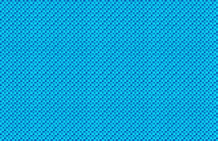 Repeated braiding of horizontal and vertical stripes creates a basket weave pattern in aqua and blue, woven with strands of various widths. Banco de Imagens