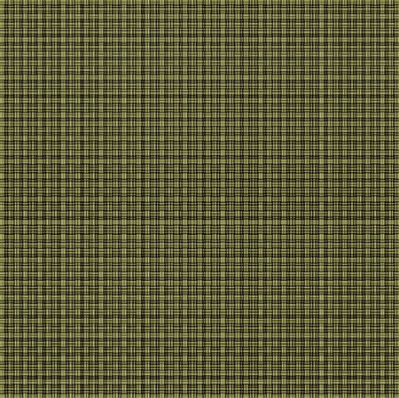Repeated braiding of horizontal and vertical stripes creates a basket weave pattern with double and triple strands in olive green on black background.